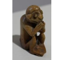 """Petite statue en pierre """"Singe"""""""