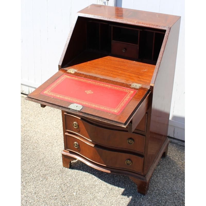 petit secr taire anglais en acajou moinat sa antiquit s d coration. Black Bedroom Furniture Sets. Home Design Ideas