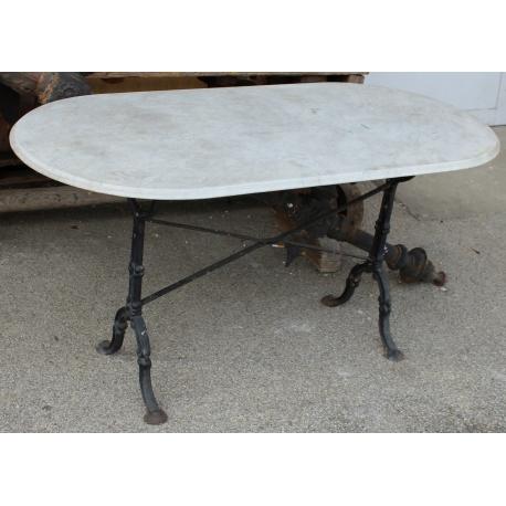 Fantastique Table de bistrot avec plateau en marbre blanc - Moinat SA BX-25