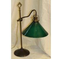 Lampe en laiton avec globe vert