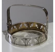 Panier Art Deco en métal argenté par WMF