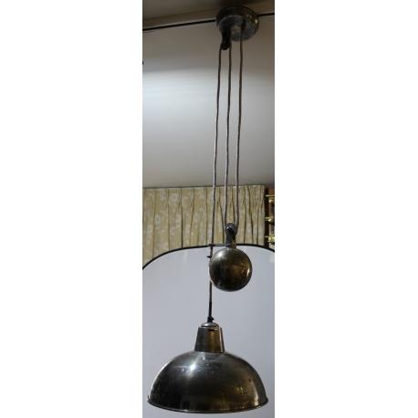 suspension r glable en laiton argent moinat sa antiquit s d coration. Black Bedroom Furniture Sets. Home Design Ideas