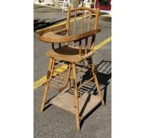 Chaise haute ancienne pliante