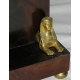"""Pendule Empire en acajou """"Sphinx"""" en bronze"""