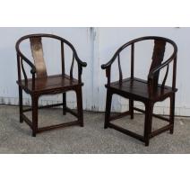 Paire de fauteuils chinois en Huanghuali