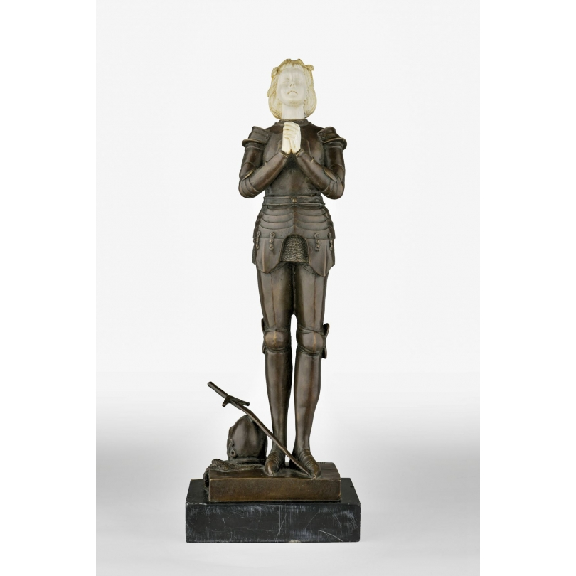 """Bronze """"Jeanne d'Arc"""" signé M. MERCIÉ"""