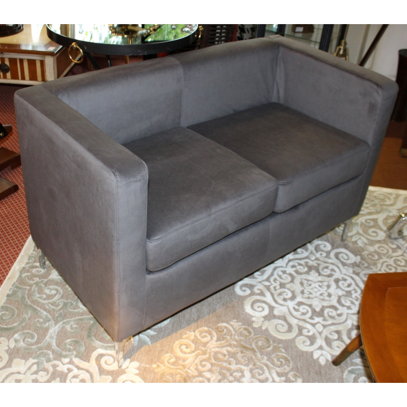 Canapé 2 places CUBO en tissus gris