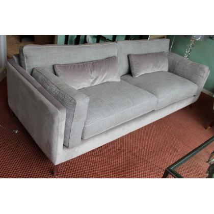 Canapé 3 places DAYTONA en tissus gris