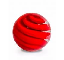 Boule décorée d'un tourbillon rouge