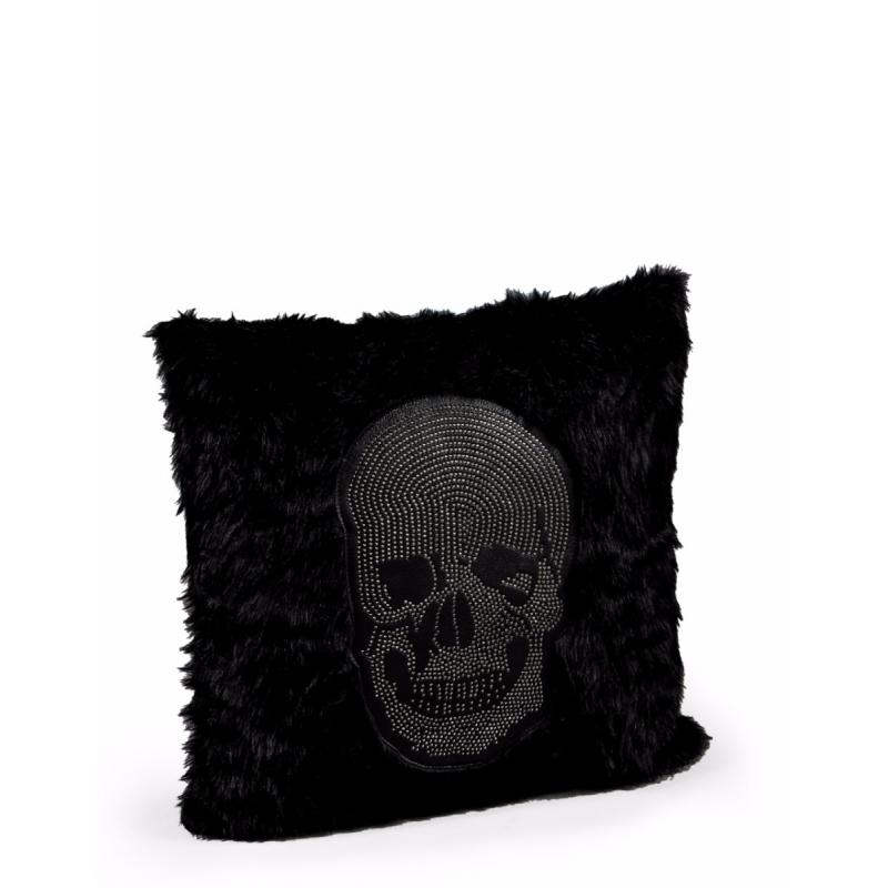 coussin t te de mort avec clous chrom s moinat sa. Black Bedroom Furniture Sets. Home Design Ideas