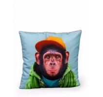 Coussin imprimé chimpanzé