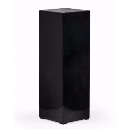 Colonne carrée en verre noir