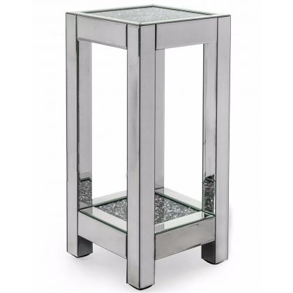 Sellette carrée en miroir a deux plateaux