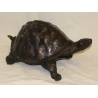 Grande tortue en bronze patine brune