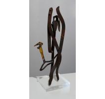 """Sculpture en fer """"Initiation"""" par Jeff BEER"""