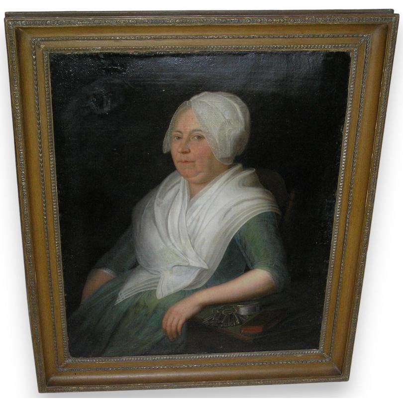 peintures tableau portrait femme sign au dos moinat sa antiquit s d coration. Black Bedroom Furniture Sets. Home Design Ideas