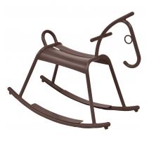 Cheval à bascule ADADA en aluminium brun rouille