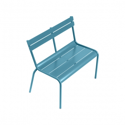 Banc LUXEMBOURG KID en aluminium bleu turquoise
