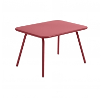 Table LUXEMBOURG KID en aluminium rouge piment