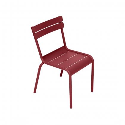 Chaise LUXEMBOURG KID en aluminium rouge piment