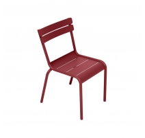 Chaise LUXEMBOURG KID en aluminium rouge piment