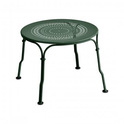 Table basse 1900 en fer forgé vert cèdre
