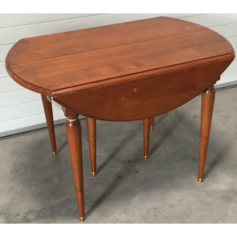 table ronds abattants en merisier moinat sa antiquit s d coration. Black Bedroom Furniture Sets. Home Design Ideas
