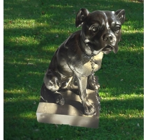 """Sculpture """"Apollon"""" en fonte coloris vieux bronze"""