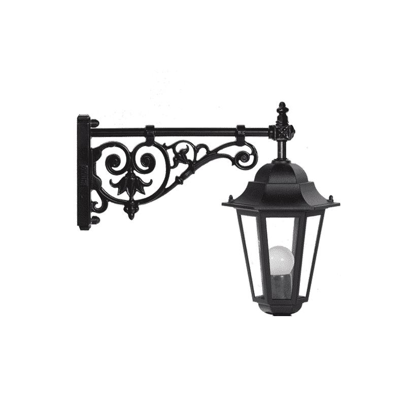 Lanterne BEAUVOIR avec potence en fonte noir