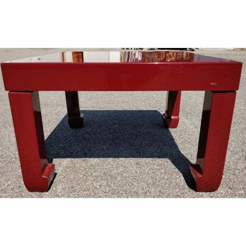 table basse en laque rouge sur moinat sa antiquit s. Black Bedroom Furniture Sets. Home Design Ideas