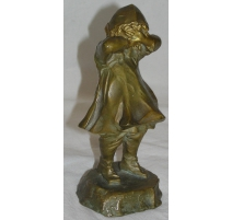 "Bronze ""Fillette pleurant"", signé L. ALLIOT"