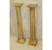 Paire de colonnes en onyx a fut cylindriques