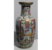 Vase de Canton chinois (réparé)