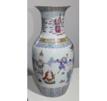 Vase chinois famille rose