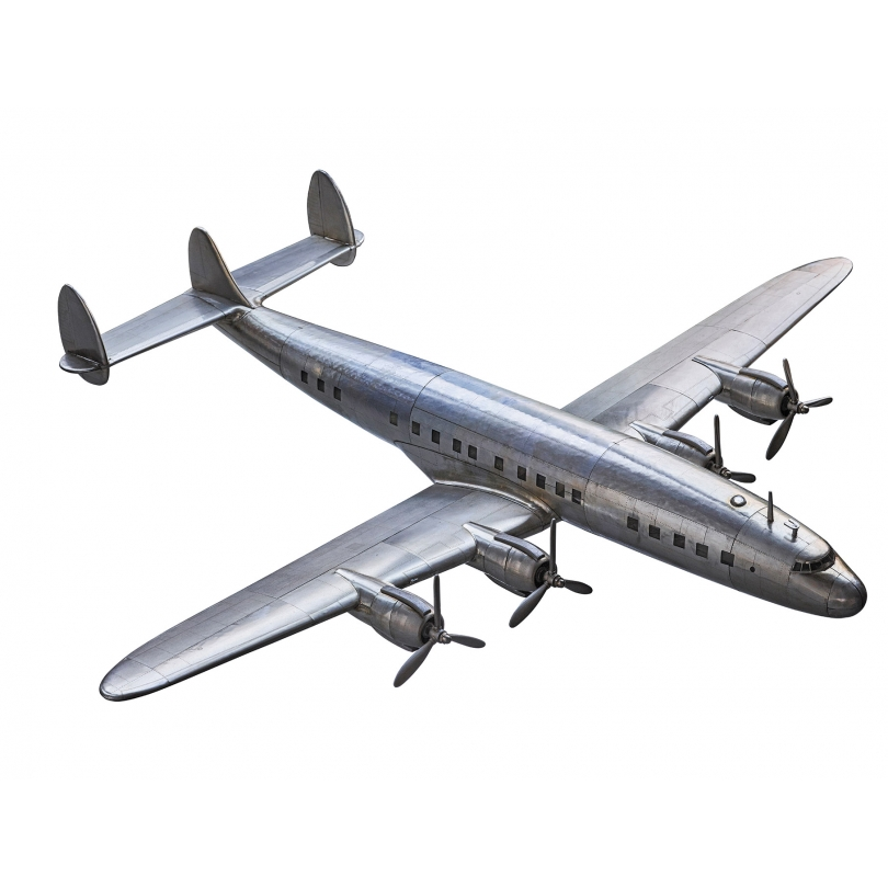 Modèle d'avion Constellation en aluminium