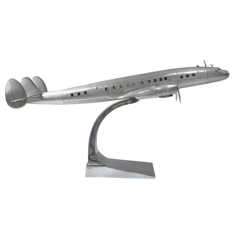 Modèle d'avion Constellation en aluminium - Moinat SA - Antiquités décoration
