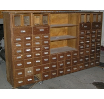 Chest of drawers with lockers