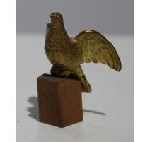 Colombe miniature en bronze doré