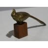 Perroquet miniature en bronze doré