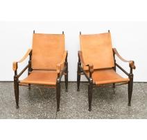 Paire de fauteuils SAFARI par Wilhelm KIENZLE
