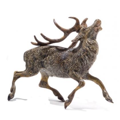 Cerf abattu en bronze de Vienne