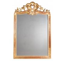 Miroir Funk en bois sculpté doré