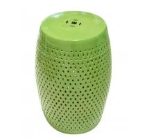 Tabouret en porcelaine vert acide