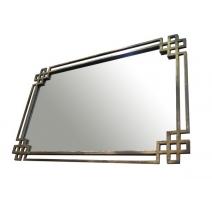 """Miroir """"Shanghai"""" en fer doré ajouré"""