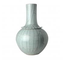 Vase à colerette bleu céladon