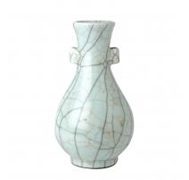 Vase à oreilles bleu céladon