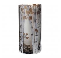 Vase esprit Nancy foret en verre taillé à l'acide