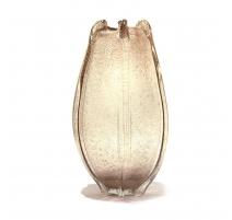 Vase texture champagne ambre en verre soufflé
