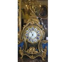 BOULLE marquetry mantel clock,