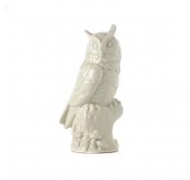 Hibou en porcelaine céladon, moyen